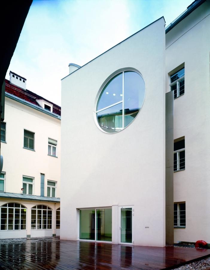GMMK , Foto: Elisabeth Mayr-Keber , Gert M. MAYR-KEBER ZT-GmbH. Rathaus Klagenfurt Liftanbau 1993-1998